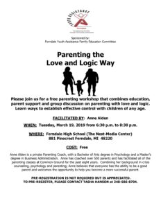 Parenting the Love and Logic Way @ Ferndale High School (The Nest-Media Center)